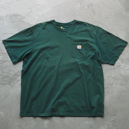 Carhartt Pocket Tee (Dark Green) - Size 2XL