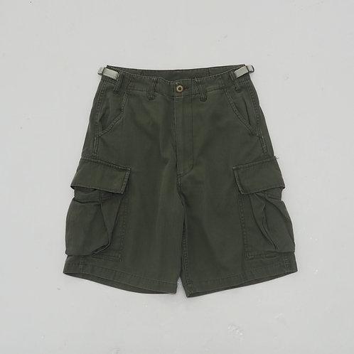Herringbone Twill Cargo Shorts - Size S