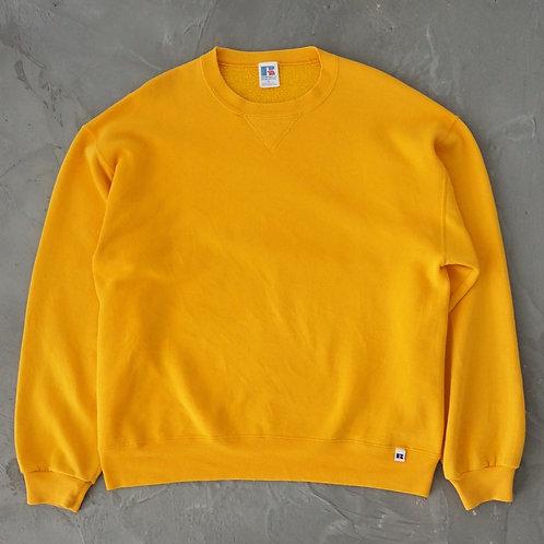 1990s Russell Mustard Sweatshirt - Size XL
