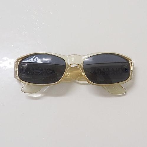 1990s Diablo NOS Transparent Wraparound Sunglasses - Size OS