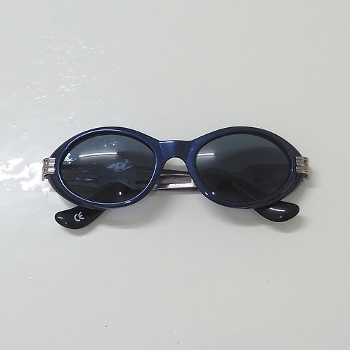1990s Diablo NOS Metallic Blue Round Sunglasses - Size OS