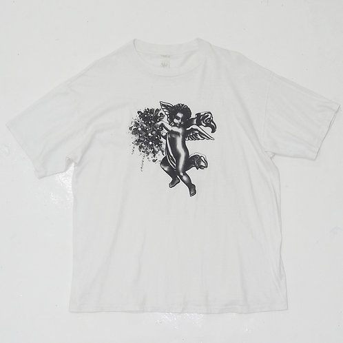 1980s 'Angel and Pearl' Graphic Tee - Size L
