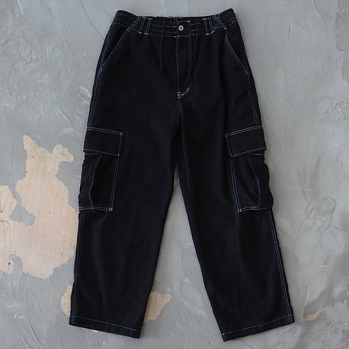 Black Relaxed Cargo Pants - Size L/XL