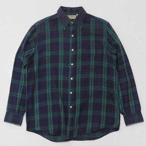 1990s L.L Bean Green Flannel Shirt - Size M