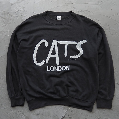 1980s Vintage Cats London Merch Sweatshirt - Size XXL