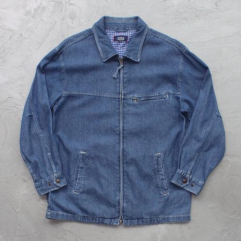 Denim Zipper Jacket - Size XL