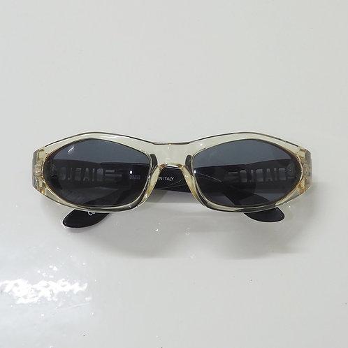 1990s Diablo NOS Transparent and Black Wraparound Sunglasses - Size OS