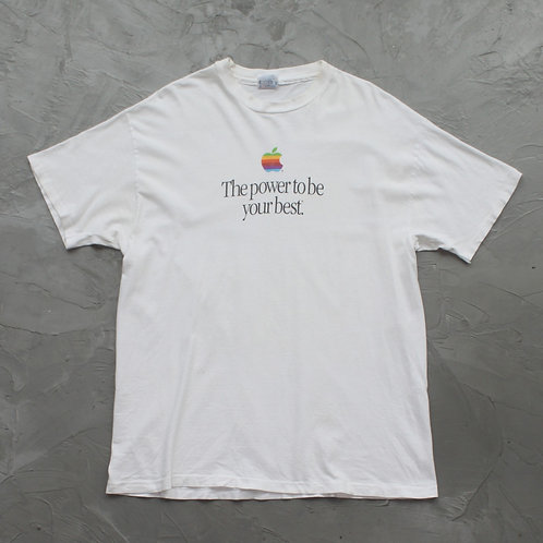 90s Apple 'The power to be your best.' Tee - Size XL