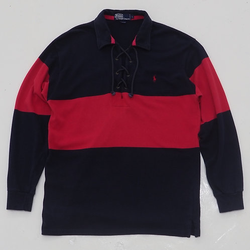 Polo by Ralph Lauren Rugby Polo Shirts With Lace - Size L