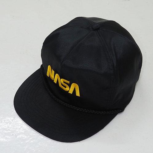 1980s NASA Black Satin Snapback - Size OS