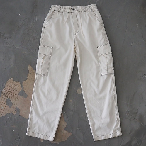 White Relaxed Cargo Pants - Size XL/2XL