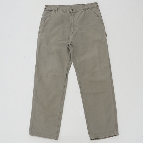 1990s Carhartt Beige Carpenters Pants - W37