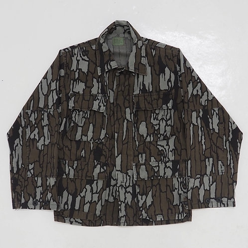 1980s Trebark Camouflage Fatigue Jacket - Size S