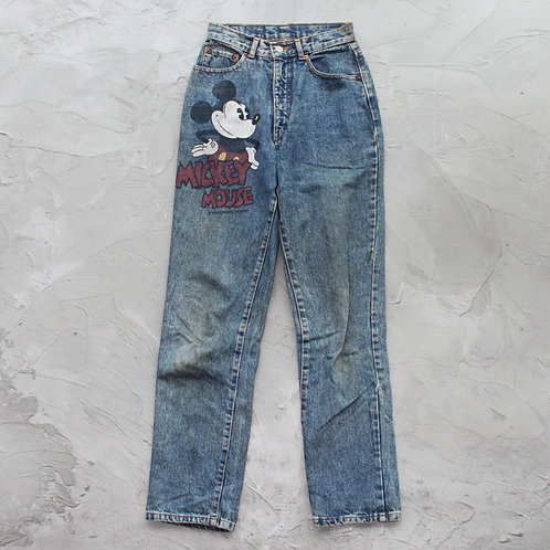 Vintage Mickey Mouse Jeans - W24