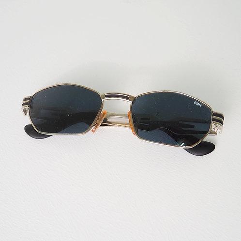 1990s Diablo NOS Silver Hexagonal Sunglasses - Size OS