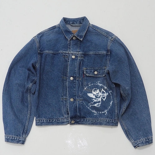 TEMPORARY 1 of 1 Hand-printed Denim Jacket - Size M
