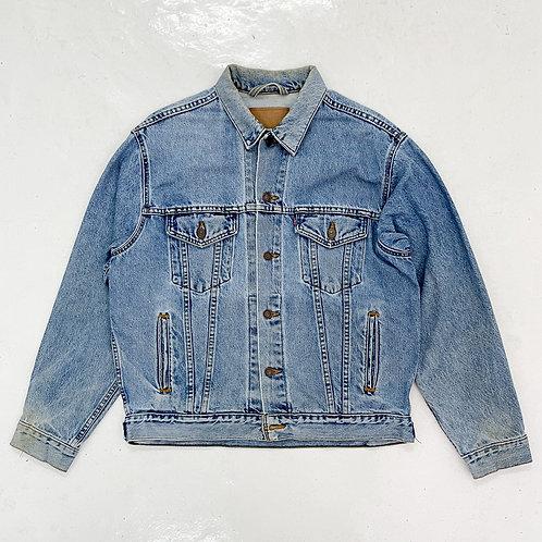 1990s Levi's Washed Denim Trucker Jacket - Size XL