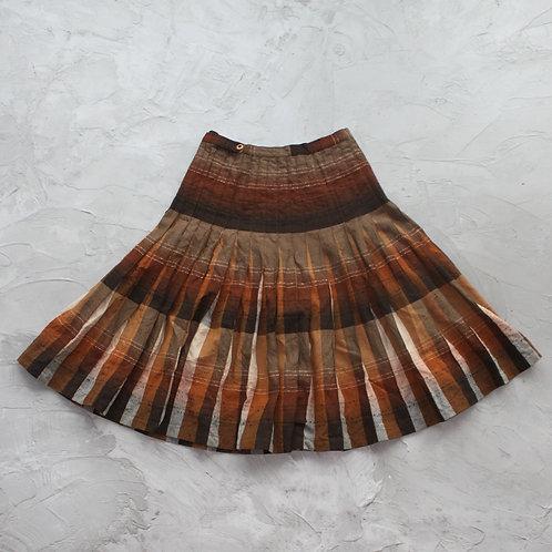 Vintage Pleated Midi Skirt - Size 16