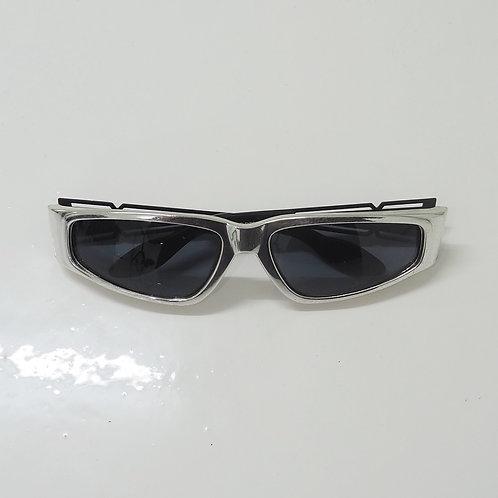 1990s Diablo NOS Metallic Wraparound Sunglasses - Size OS