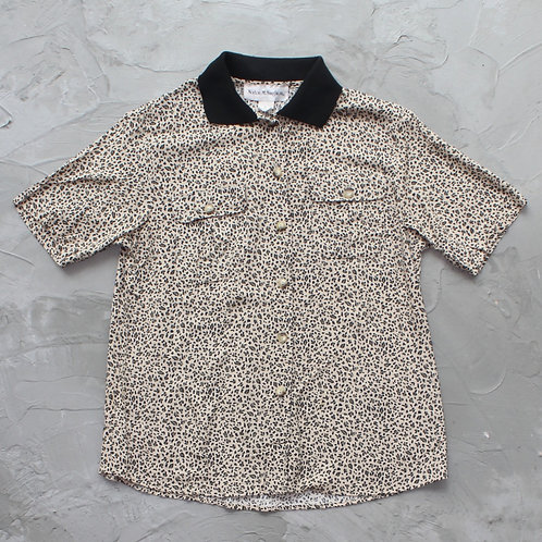 1990s Norton McNaughton Leopard Print Button Down Shirt - Size M