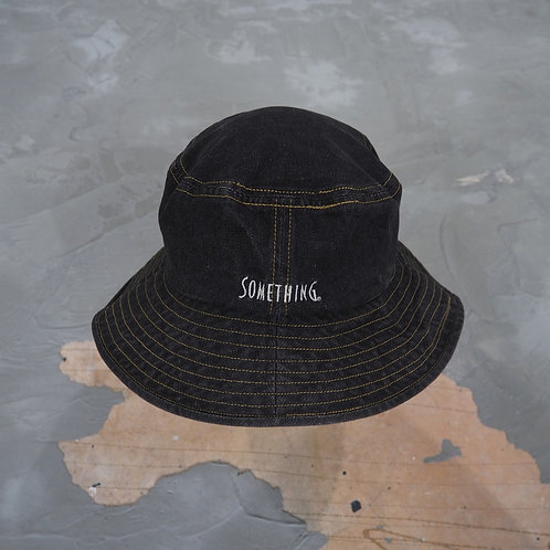 Something by Edwin Washed Denim Bucket Hat - Size L/XL