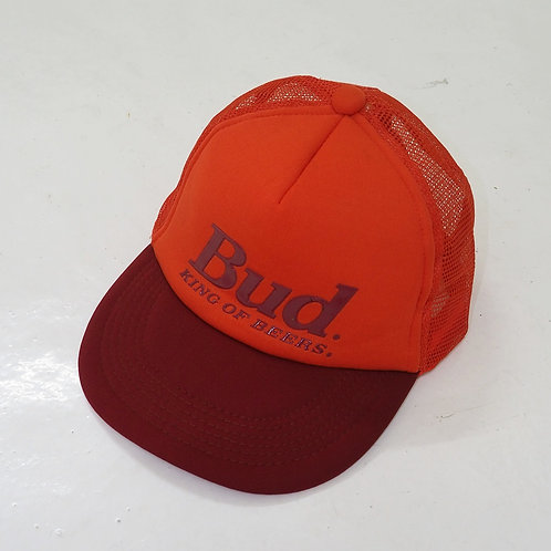 1990s 'Bud: King of Beers' Trucker Cap - Size OS