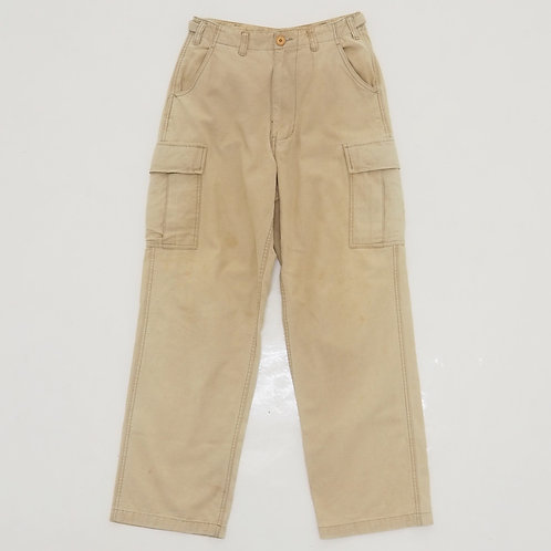 Sun Faded Fatigue Cargo Pants (Beige) - Size S