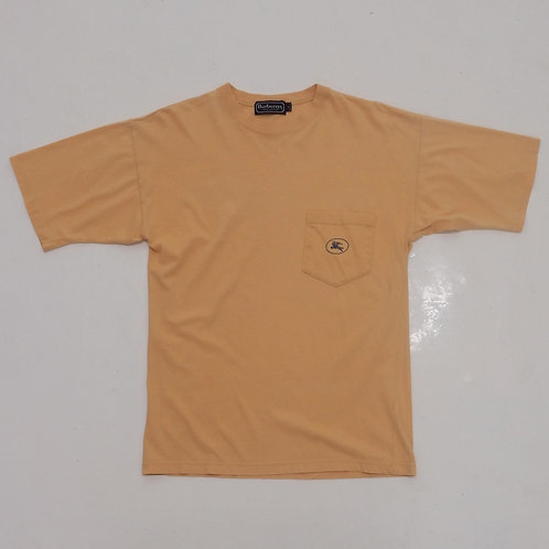 1990s Burberrys Logo Pocket Tee - Size S