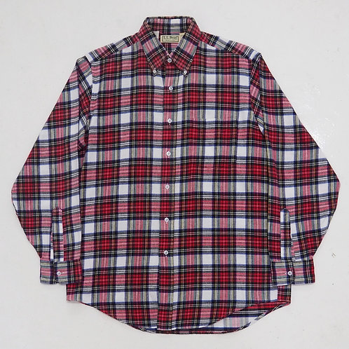 1990s L.L Bean Flannel Checkered Shirt (Red) - Size M