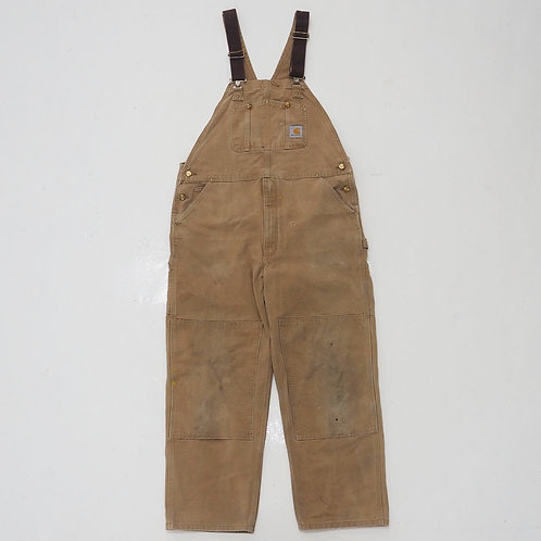 1990s Carhartt Duck Double Knee Overalls - W40