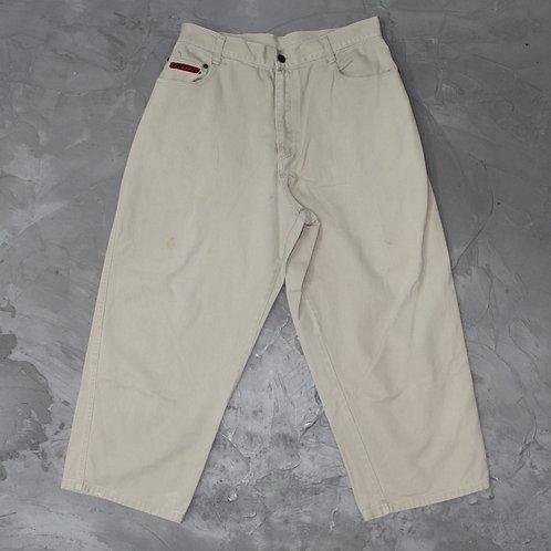 2000s Vintage Vans Straight Cut Jeans (Khaki)  - W32