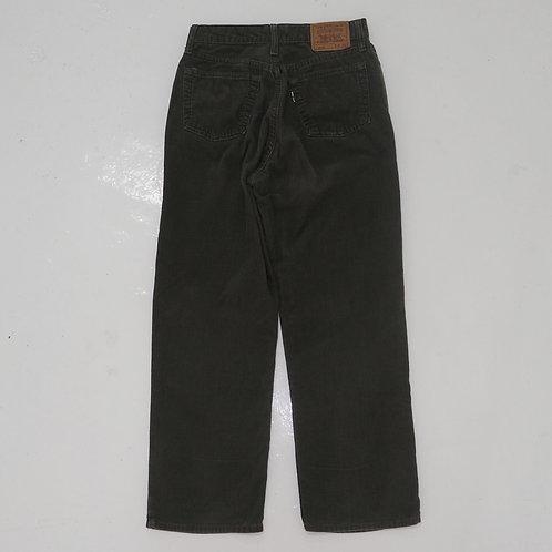 1990s Levi's White Tab 515 Corduroy Pants (Green) - W26
