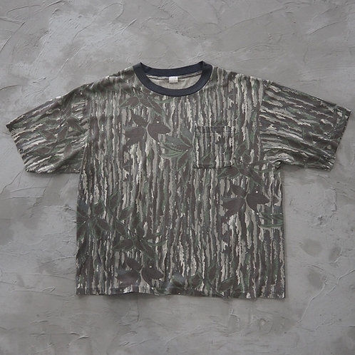 1980s Vintage Realtree Camouflage Pocket Tee - Size XL