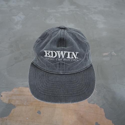 1990s Vintage Edwin Washed Denim Cap - Size OS