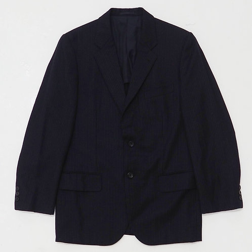 AD2005 Comme des Garcons Homme Navy Pinstriped Blazer - Size S