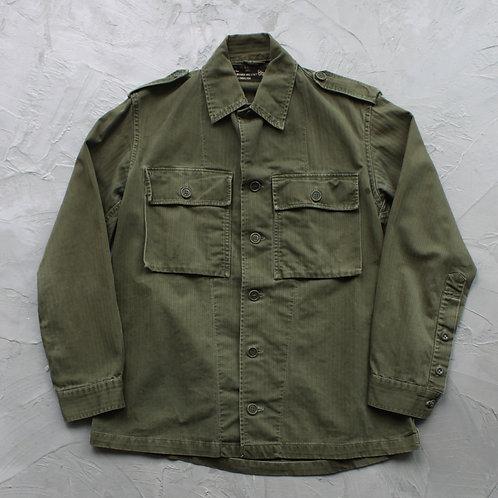 1970s Vintage Dutch Military Shirt - Size L