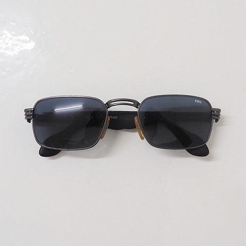 1990s Diablo NOS Metallic Black Rectangle Sunglasses - Size OS