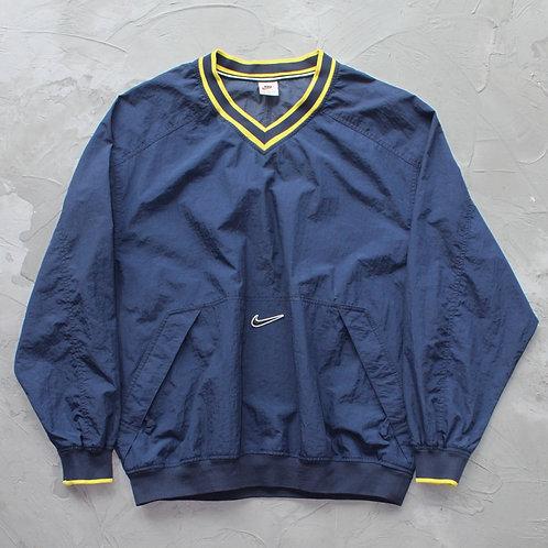 1990s Vintage Nike Nylon Pullover (Navy) - Size XL