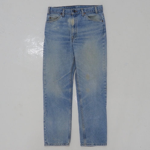 1990s Levi's Orange Tab Bleached Tapered Jeans - W30