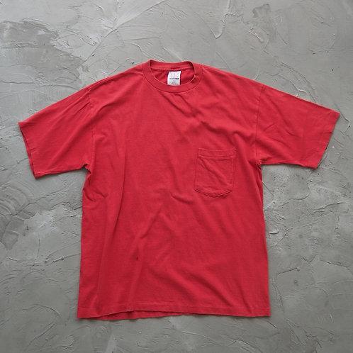1990s Vintage Pocket Tee (Red) - Size M