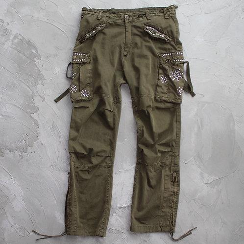 Mangrove Studded Cargo Pants - W36
