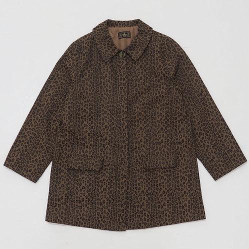 1990s Fendi Leopard Overprint Trench Coat - Size L