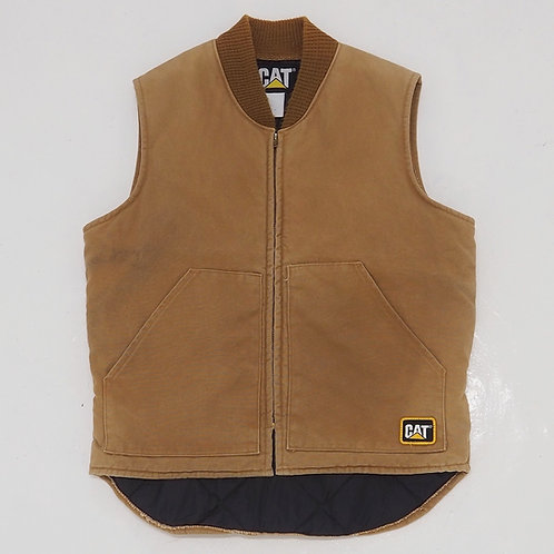1990s Faded Caterpillar Work Vest - Size XL