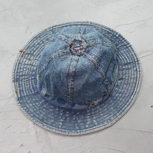 Washed Denim Bucket Hat - Size OS