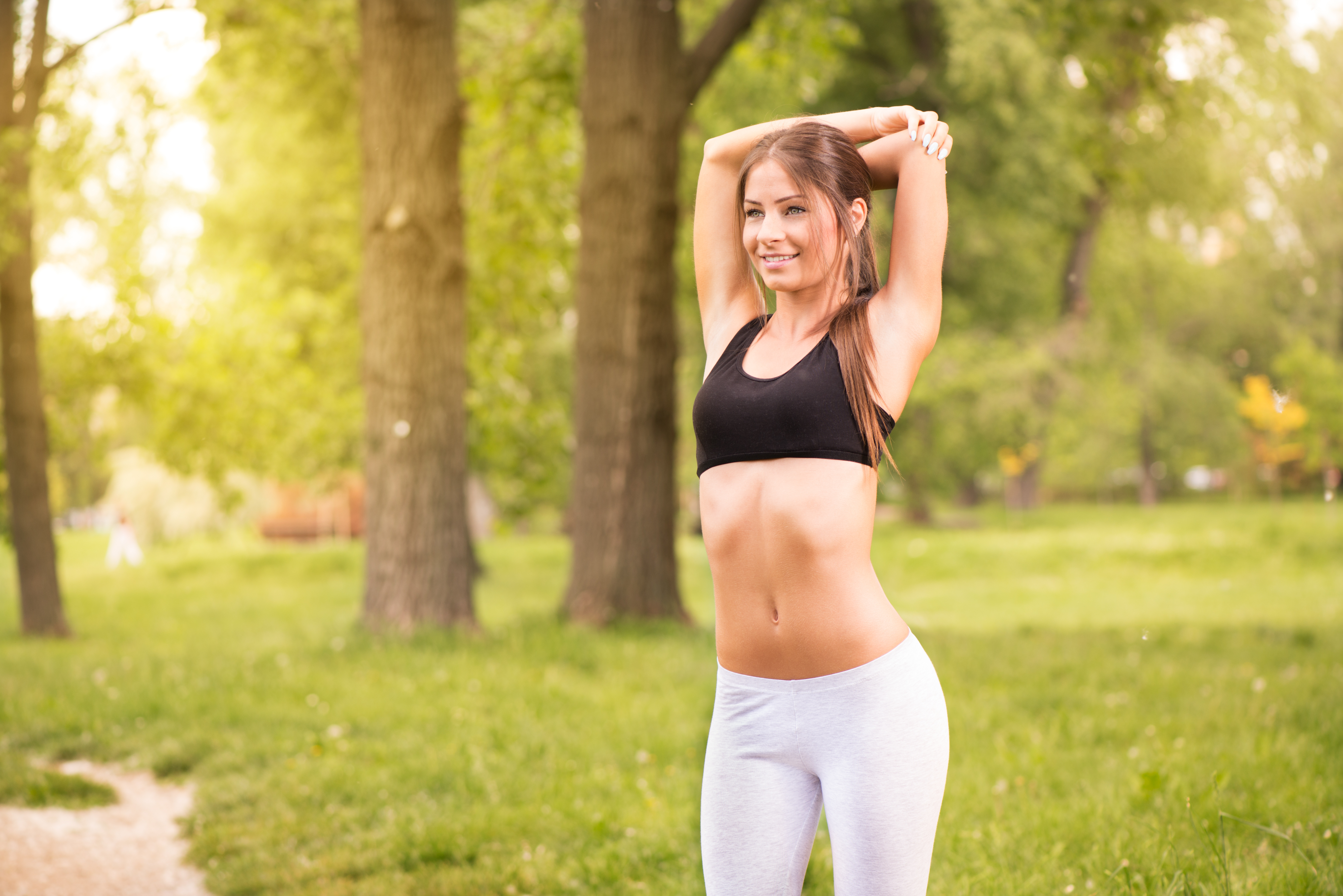 Chest and abdomen stretch