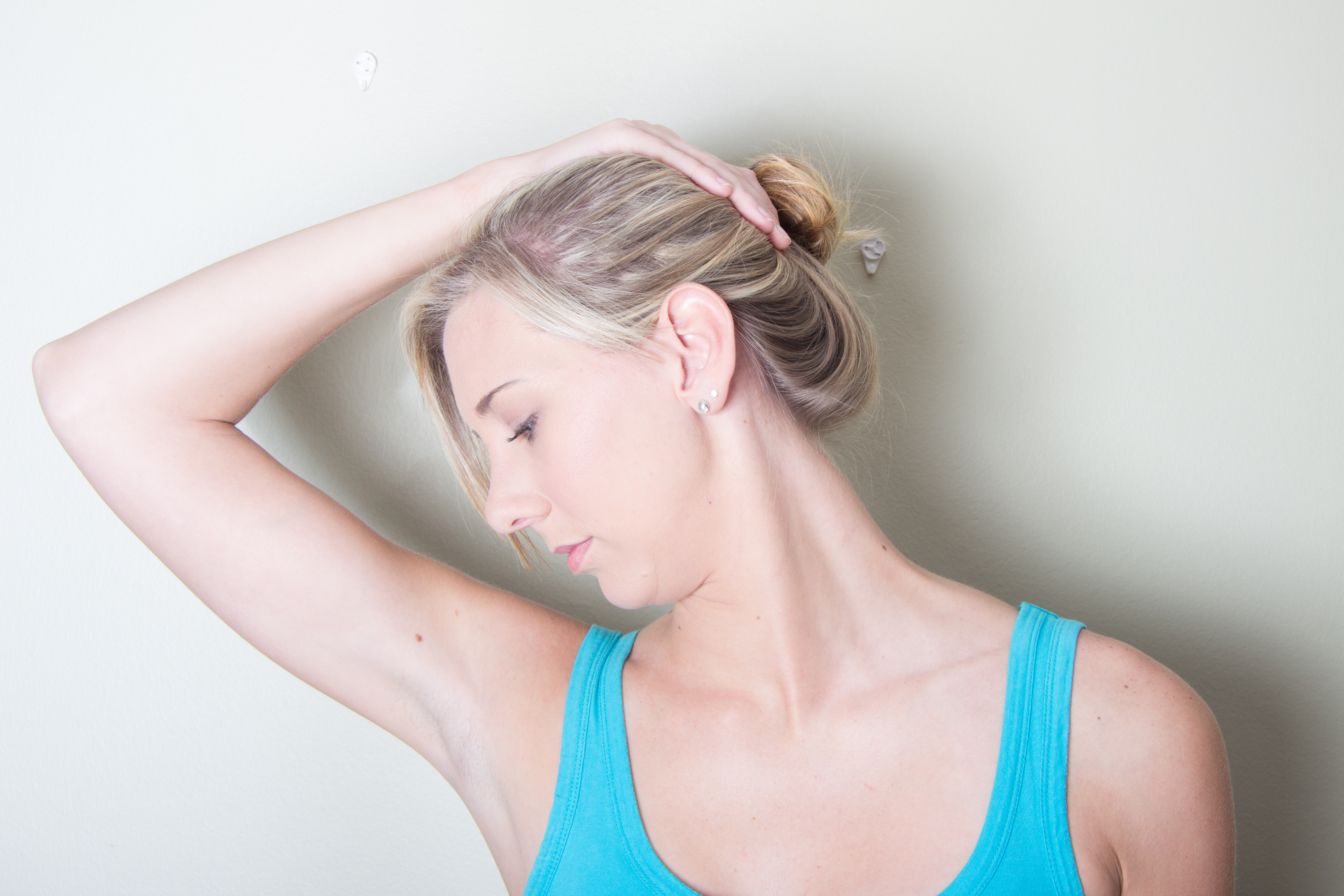 Shoulder and neck muscles stretch