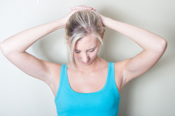 Upper back and neck muscles stretch