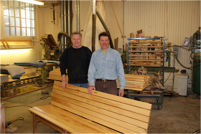Beeken Parsons benches made in Shelburne, VT for Juniper Hall at Champlain College; a project managed by Peterson Consulting, Inc.