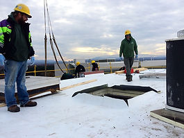 HVAC, air handler, rooftop, roof, uvmmc, uvm, hospital, construction, project management, owner's representativ