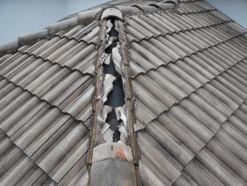 Roof damage after a storm